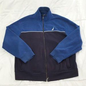 Nautica Full Zip Jacket Mens XL Cotton Blend Blue
